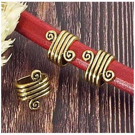 Passe cuir spirale rococo dore vieilli pour cuir regaliz