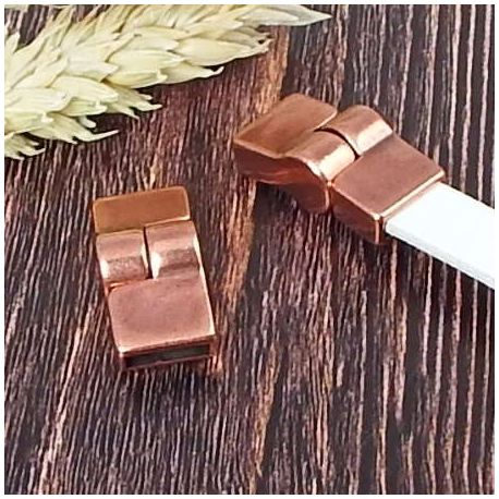 Fermoir magnetique cuivre haute qualite pour cuir 10mm