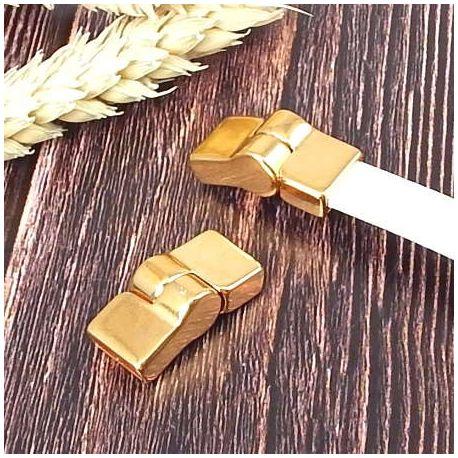 Fermoir magnetique or haute qualite pour cuir 10mm