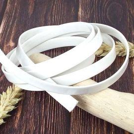 Cuir simili plat vernis blanc 10mm