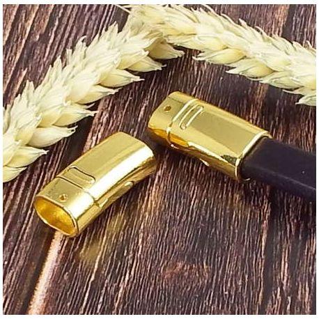 Fermoir magnetique dore brillant pour cuir regaliz