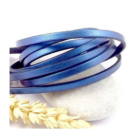 Cuir plat 5mm cuivre bleu metal metal