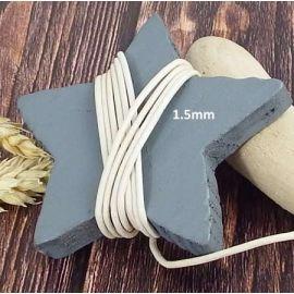 Cordon cuir ivoire 1.5mm