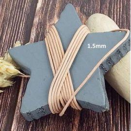 Cordon cuir naturel 1.5mm