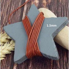 Cordon cuir cuivre metal 1.5mm