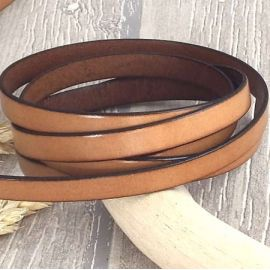 Cuir plat 10mm marron tabac