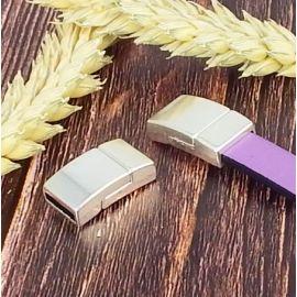 3 fermoirs magnetiques plaque argent tres securises pour cuir plat 10mm