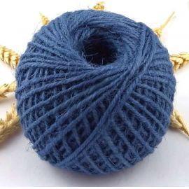 Cordon de jute bleu 2mm par 5 metres