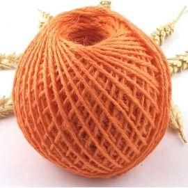 Cordon de jute orange 2mm par 5 metres
