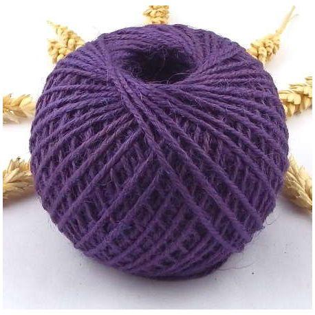 Cordon de jute violet 2mm 5 metres