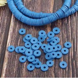 Perles Heishi bleu acier