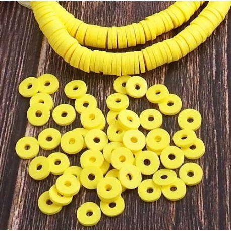 Perles Heishi jaune