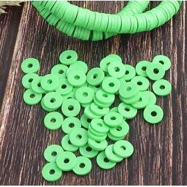Perles Heishi vert fluo
