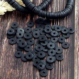 Perles Heishi noir
