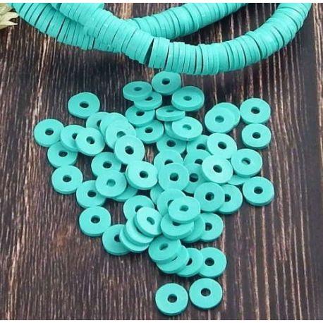 Perles Heishi vert ocean