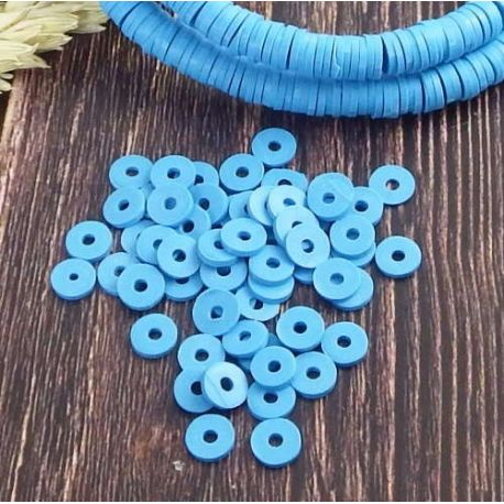 Perles Heishi Bleu jean