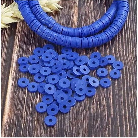 Perles Heishi bleu gitane