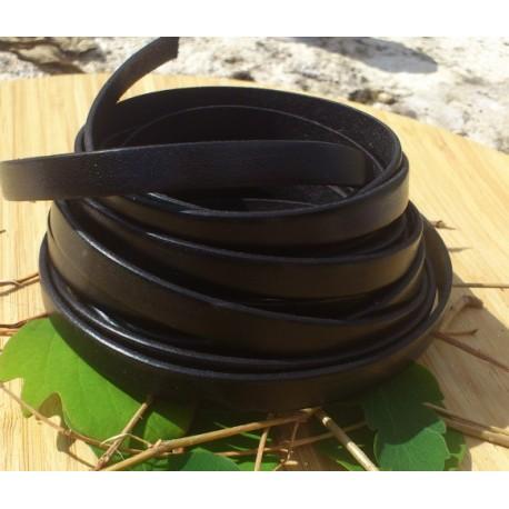 cuir plat 10mm noir en gros