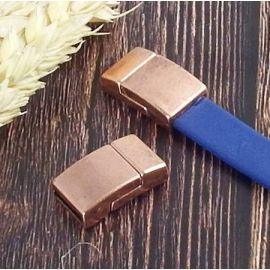 Fermoir magnetique plat cuivre pour cuir 10mm