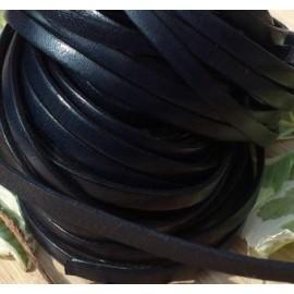 cuir plat 5mm noir en gros