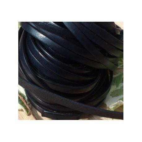 cuir plat 5mm noir rouleau