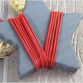 Cordon cuir rouge 1.5mm