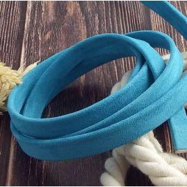 Cuir plat 10mm Daim turquoise