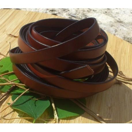 cuir plat 10mm marron en gros