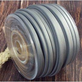 Cuir plat 5mm nacre gris