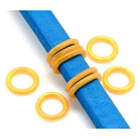 6 rondelles stoppeur en PVC dorespour cuir regaliz