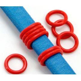 6 rondelles stoppeur en PVC rouges pour cuir regaliz