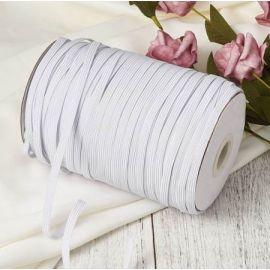 Cordon élastique plat 7mm blanc par 5 metres