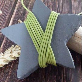 Cordon cuir vert anis 1.5mm