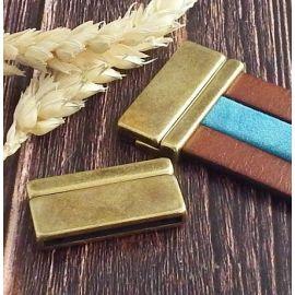 Fermoir magnetique bronze pour cuir 30mm