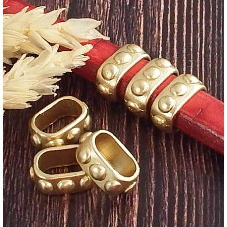 2 Passants poincons alliage or mat pour cuir regaliz