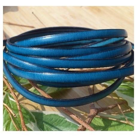 cuir plat 5mm bleu outremer en gros