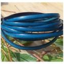 cuir plat 5mm bleu outremer par metre