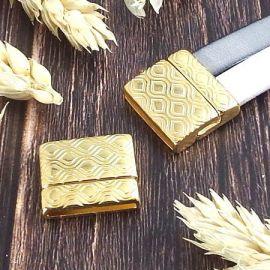 Fermoir magnetique retro or pour cuir 20mm