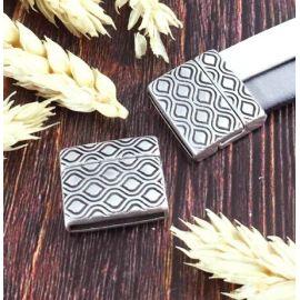 Fermoir magnetique retro argent pour cuir 20mm