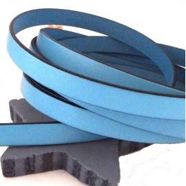 Cuir plat 10mm bleu ciel en gros