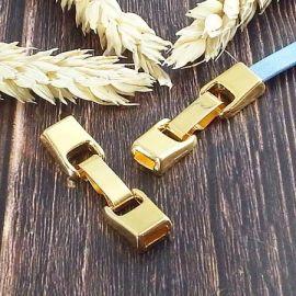 Fermoir clip zamak or pour cuir 5mm