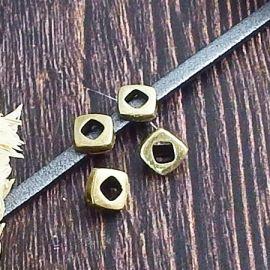 2 passants losange bronze pour cuir 3mm