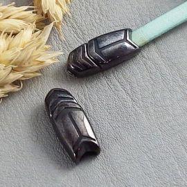Fermoir magnetique fleche gun metal pour cuir 5mm