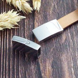 Fermoir magnetique acier inoxydable securise pour cuir plat 10mm