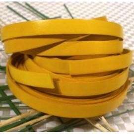 Cuir plat 10mm jaune en gros