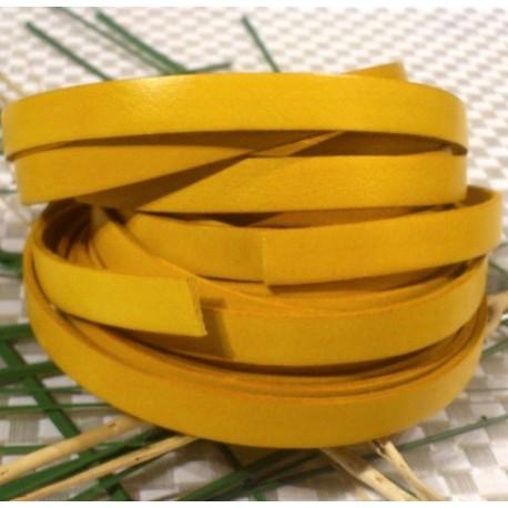 cuir plat 10mm jaune par 2 mètres
