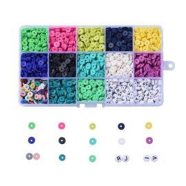 Kit de perles Heishi 12 couleurs et perles alphabets