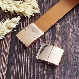 Fermoir magnetique acier inoxydabl couleur or rose pour cuir plat 15mm