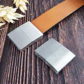 Fermoir magnetique acier inoxydable pour cuir plat 15mm
