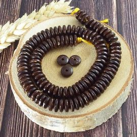 Perles rondelles noix de coco
